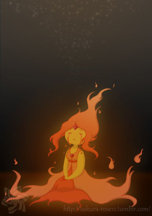 crying fire princess-Adventure Time