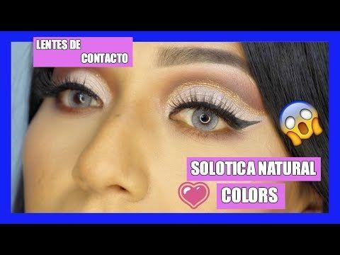 Hola chicas bellas, ayer subi un nuevo video contandoles sobre los lentes de contacto de Solotica, Natural Colors en ICE, de la empresa Visi...