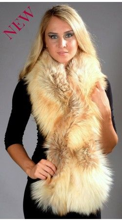 This is what you will listen from others. Our Arctic Fire Fox Fur Scarf  is artfully woven from finely spun strands that re-create the natural weight, depth of color and indulgent softness of genuine fur.  www.amifur.com