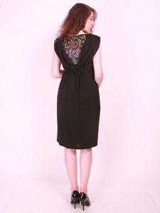 Hamile Giyim Mini Degaje Güpürlü Abiye Elbise