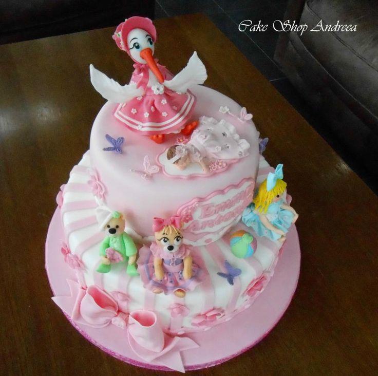christening cake for Emma Antonia - Cake by lizzy puscasu