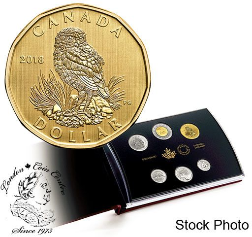 London Coin Centre Inc. - Canada: 2018 Specimen Set with Burrowing Owl Loonie, $51.95 (http://www.londoncoincentreinc.com/canada-2018-specimen-set-with-burrowing-owl-loonie/)
