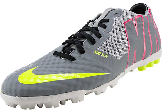 Nike Bomba Finale II Turf Soccer Shoes - Grey and Hyper Punch 686a25b3a0c10
