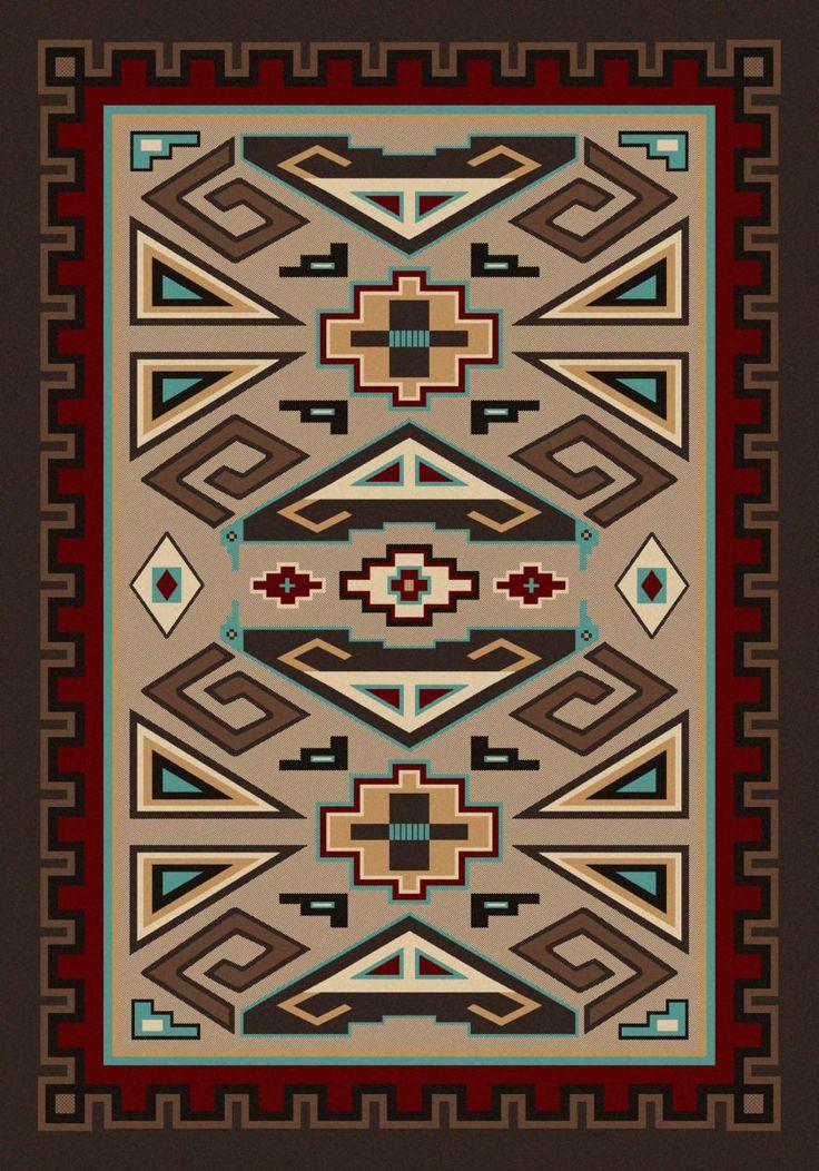 weave flat rug jute multi wool southwestern handmade