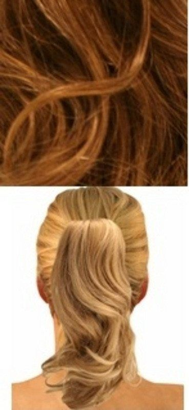 CLIP ON PONY CLIP ON PONYTAIL LIGHT BROWN/FROSTED