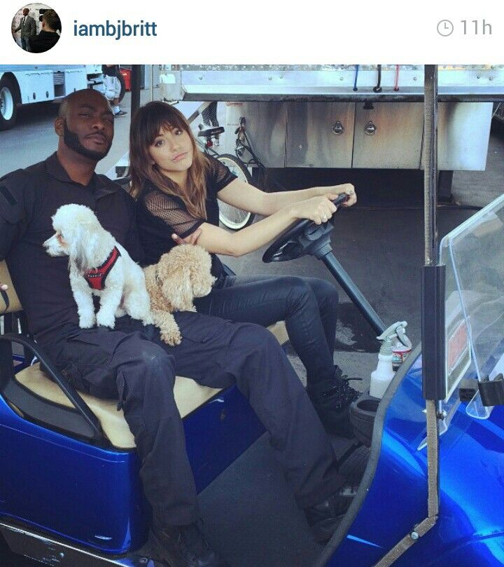 Agents of SHIELD Skye Chloe Bennet Trip behind the scenes on set