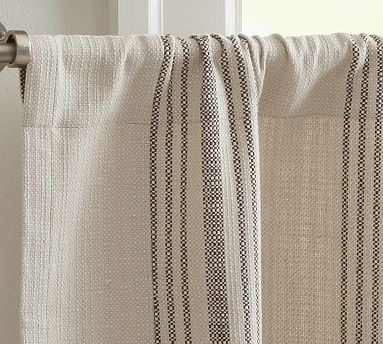 French Stripe Cafe Curtain Potterybarn Kitchen Curtains