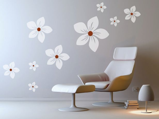 Wall decals are a great way to add style to your space. They're affordable and can be customized for just the right look. Lana's tip: Apply wall decals to doors, windows, mirrors and furniture. They'll look like they're painted on but can be easily removed when it's time to move out. Photo courtesy of Lana Kole.: Decals Ideas, Decor Ideas, 5000, Beautiful Wall, Decorating Ideas, Vinyls Wall Decals, Flower Wall Decals, Apply Wall, Vinyl Wall Decals