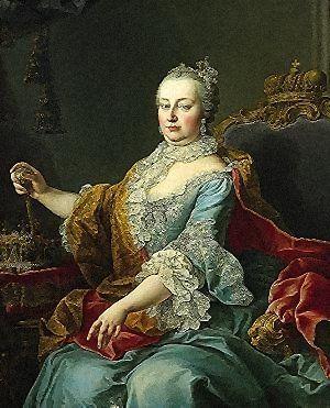 Maria Theresa of Austria, eldest daughter of Emperor Charles V, Martin van Meytens  (1759)