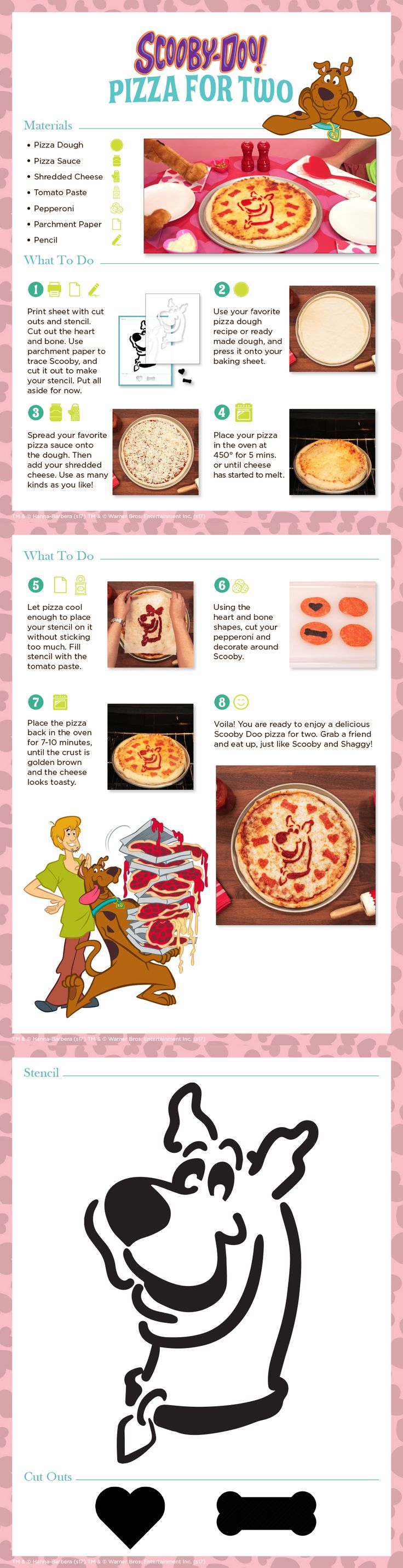 Scooby-Doo and pizza for two! Or for one, depending on your appetite  Get the recipe here!