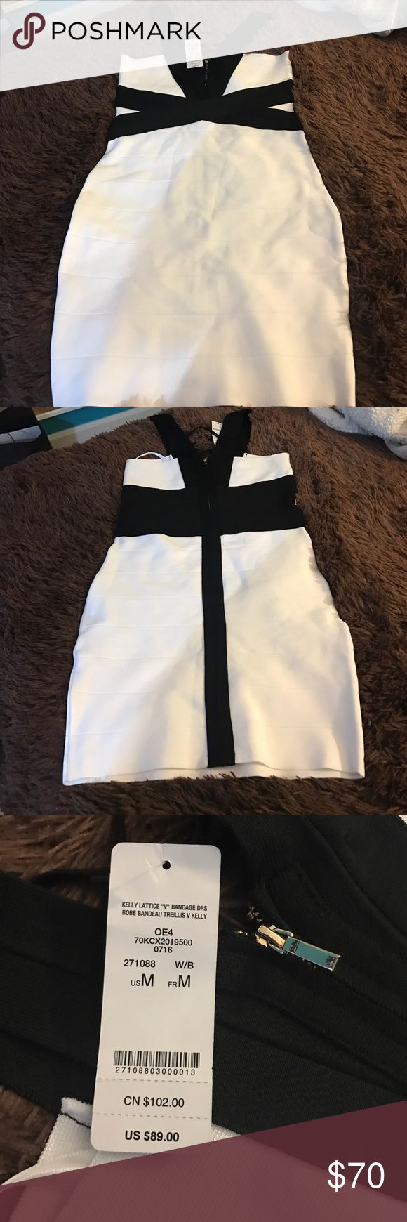 Black and White Bandage Dress Its Sexy! I have never worn it! bebe Dresses Mini