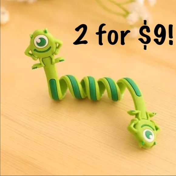 NWOT 2 for $9: 2 Mike monster inc wire organizers Included: 2 Mike from monsters inc wire organizers.  Please see the third picture for how to use it.  Please see the second picture for the other wire organizers I have available. I have: 1. One eye minion 2. Alien from toy story 3. Two eye minion 4. Panda 5. Elephant 6. Mike from monsters inc 7. Stitch 8. Sully from monsters inc  Comment to Bundle: 2 for $9 3 for $12 5 for $16 All 8 for $20 Accessories