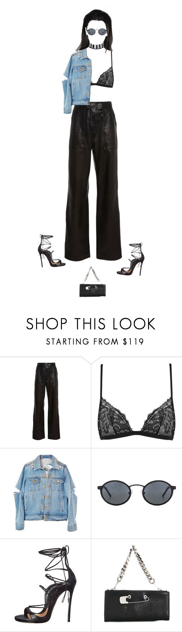 """u wanna put your name on it"" by andy993011 on Polyvore featuring Yves Salomon, La Perla, Blyszak, Dsquared2 and Sonia by Sonia Rykiel"