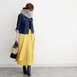 冬→春のキレイめカジュアルは、デニムジャケットで始めようの画像1