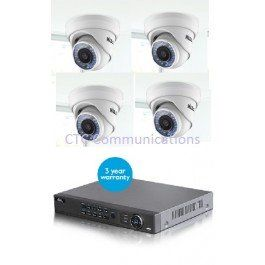 Hills IP CCTV Kit 4 Channel with 4 Dome eyeball camera's 3 Megapixels