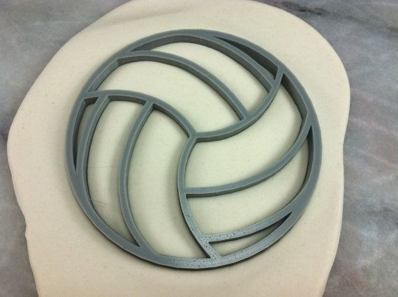 Volleyball Cookie Cutter CHOOSE Your OWN by TheCookieCutterLady