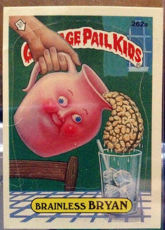 1987 Topps Garbage Pail Kids Trading Card 262a by LEATHERGLACIER, $2.00