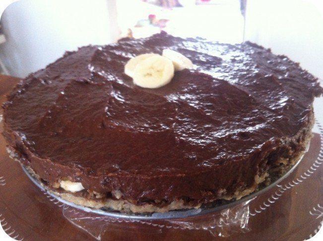 Raw chokolade-banan lagkage