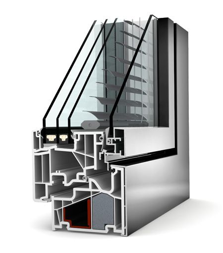 Okno PCV - aluminium Internorm Home Pure KF 440. Izolacyjność cieplna okna do 0,64 W/m²K.