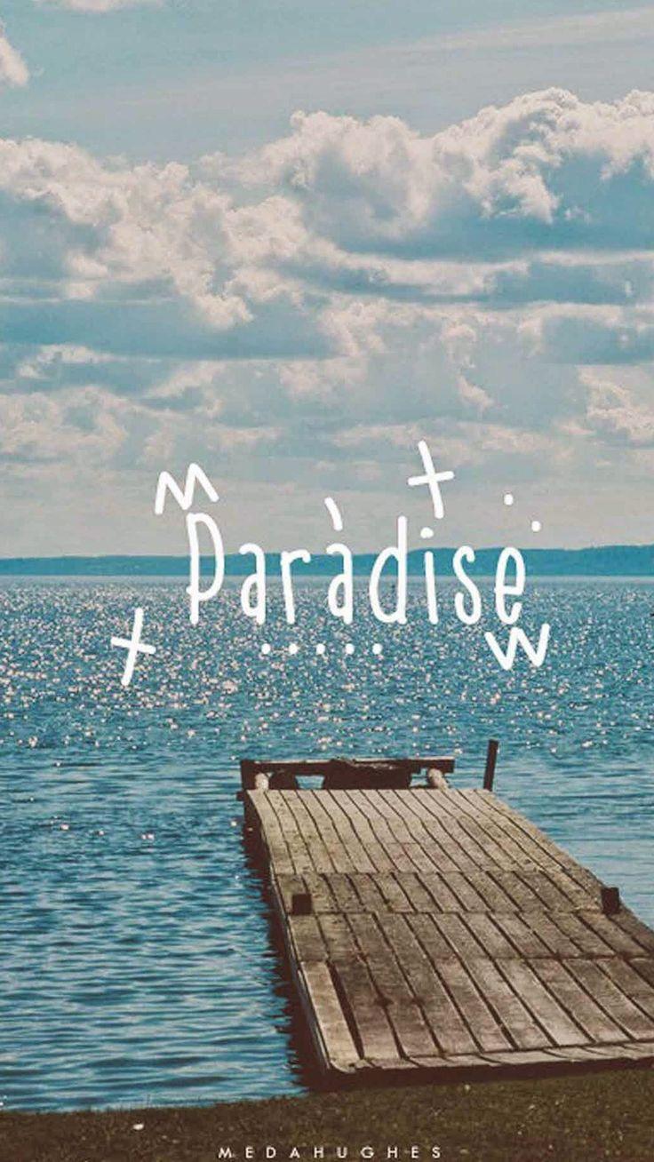 Paradise Beach Dock IPhone 6 Plus HD Wallpaper