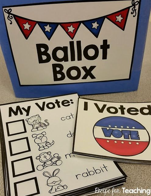Election Day Voting Fun for Kindergarteners.  Students vote for their favorite animal and then tally the votes as a class!