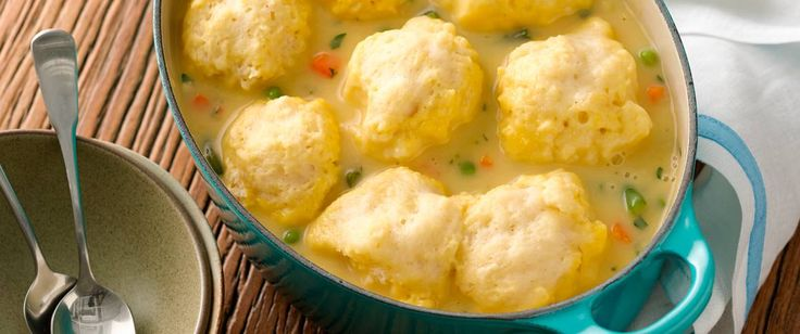 Nothing tops off beef stew or chicken and vegetables better than these two-ingredient dumplings!