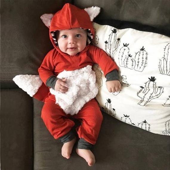 Baby Strampler Fuchs 3 24 Monate | Babyfüchse, Baby outfit