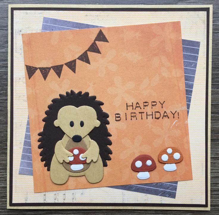 LindaCrea: Eline's Beestenboel #10 - Birthday Hedgehog