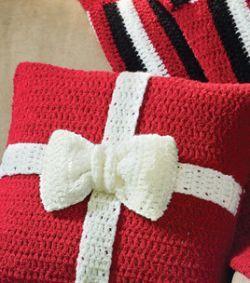 Present Crochet Pillow