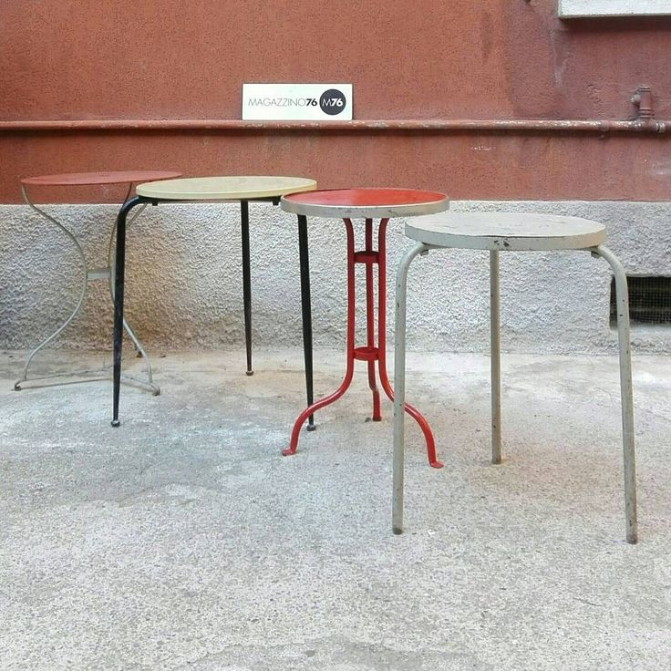 Good tavolini da bar in ferro anni misure cm diametro - Tavolini bar usati ...