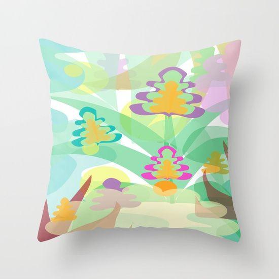 Mystery Flora Throw Pillow