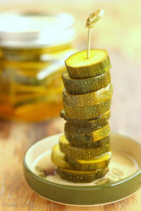 Zesty Zucchini Pickles by Craving Something Healthy