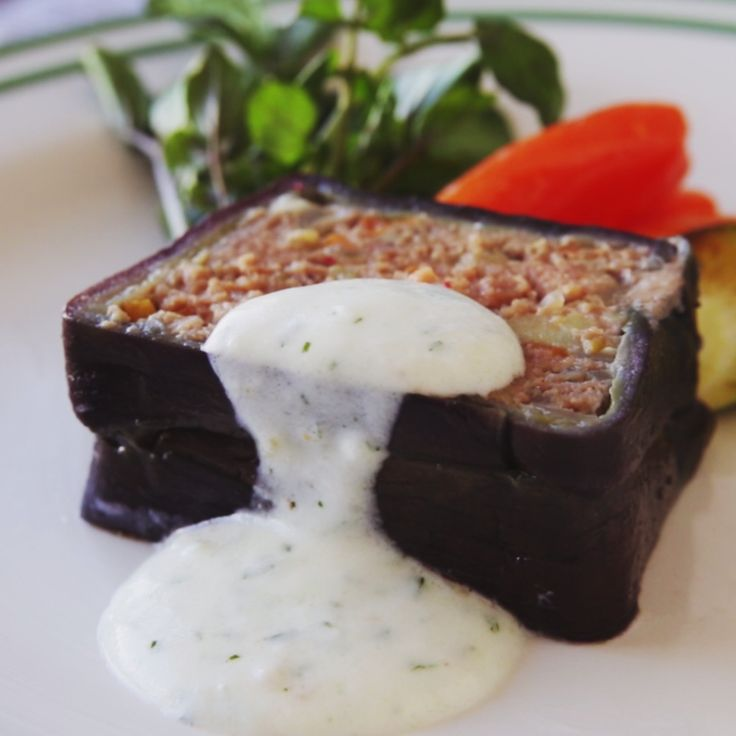 How to make Eggplant Moussaka With Yogurt Sauce.