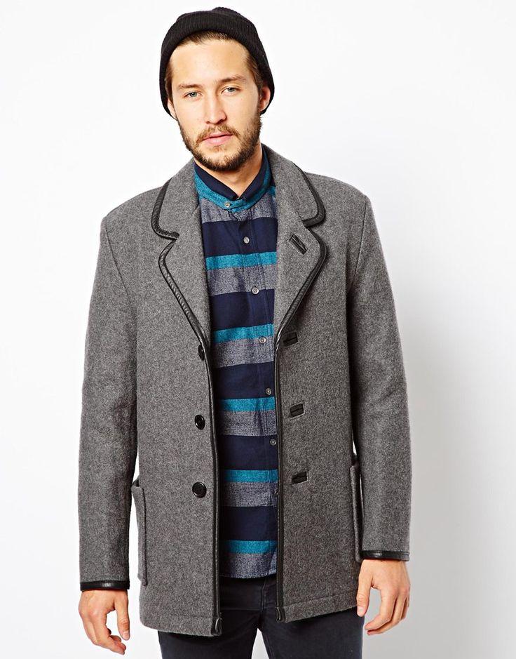 YMC x Gloverall Wool Car Coat | Plox | Pinterest | Coats Wool and