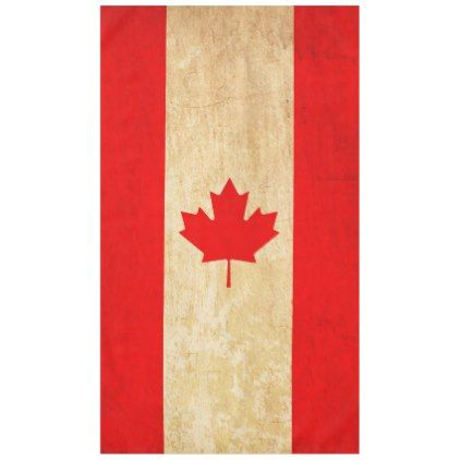 Original Vintage Patriotic National Flag of CANADA Tablecloth - decor gifts diy home & living cyo giftidea