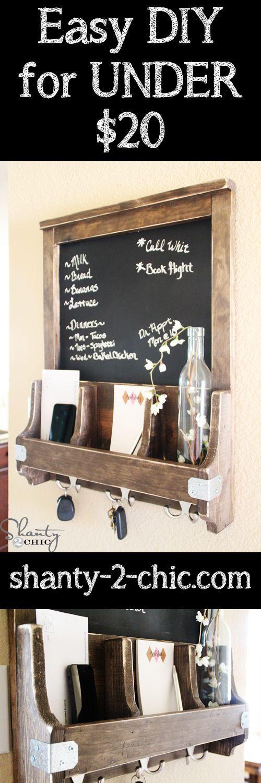 DIY Chalkboard And Key Hooks Project | Handy & Homemade