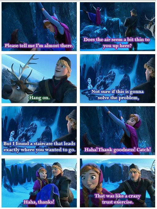 """Haha Kristoff's face in the last picture- """"what just happened?"""""""