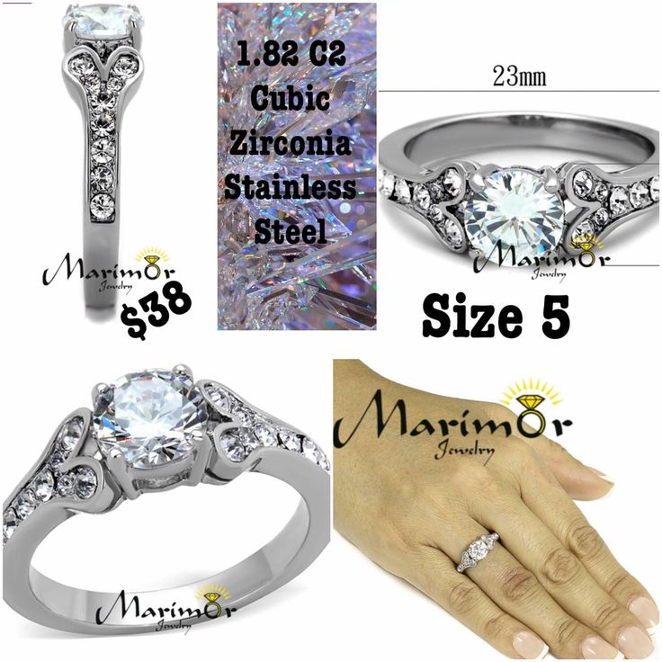 $38 - Marim Or ... Cubic Zirconia Stainless Steel