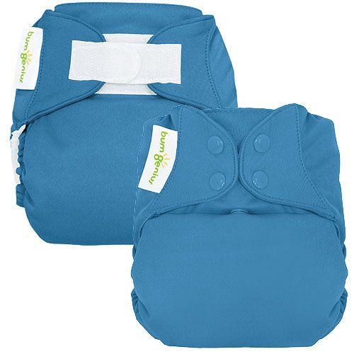 BumGenious One-Size Cloth Diapers met 2 waszakken