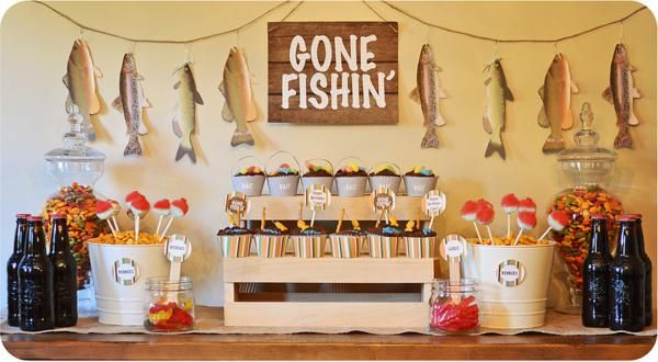 Gone Fishin' Fisherman Boy Birthday Party Planning Decorations Ideas