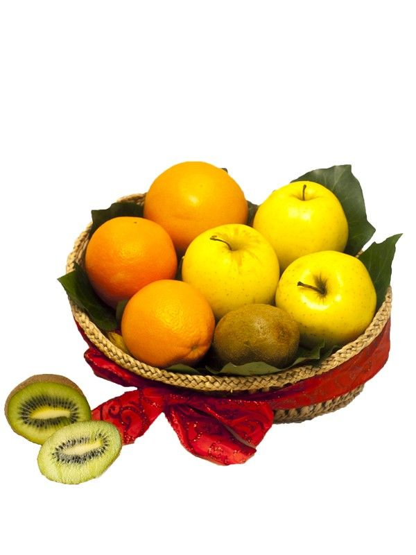 Cos mere si portocale Incepeti ziua cu vitamine oferite de mere si portocale.