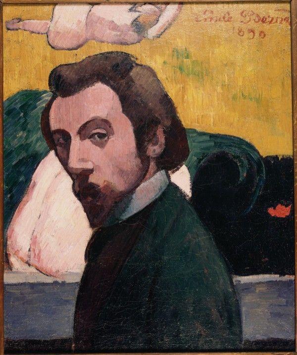 Émile Bernard (1868-1941) au Musée de l'Orangerie. Emile Bernard, Autoportrait, 1890 Huile sur toile, 55,5 x 46 cm Brest, Musée des beaux-arts. © Collection : musée des beaux-arts de Brest métropole océane
