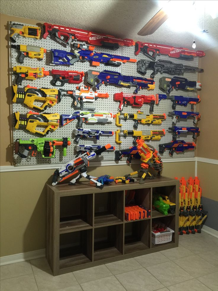 Taegan S Nerf Gun Wall Taegan S Room Nerf Storage