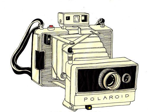 macchina fotografica, illustrazione, foto, fotografia, polaroid