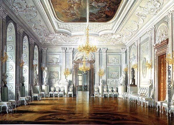 Гау Эдуард Петрович (Иванович) [1807—1887] Белый зал парадной половины Павла I. 1880
