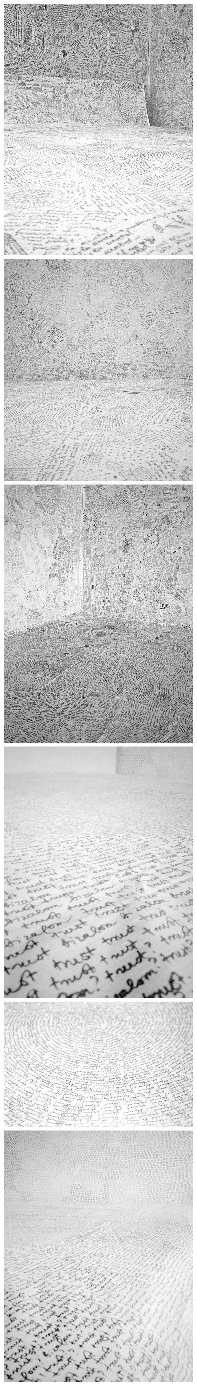 Zsuzsi Csiszer - Sheet Project- drawing, installation, bedsheets