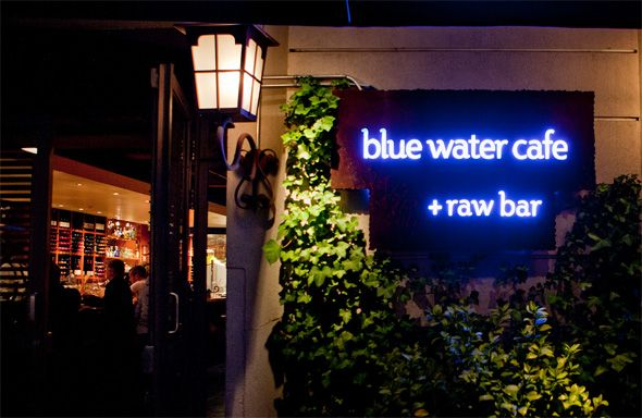 an evening out to blue water cafe