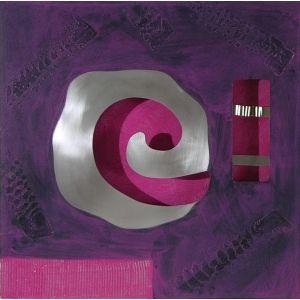 Cuadro espiral metalica morado 60x60 - cuadros y decoracion ...