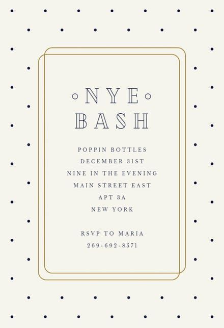 71 best New Yearu0027s Eve Invitations Template images on Pinterest - free dinner invitation templates printable
