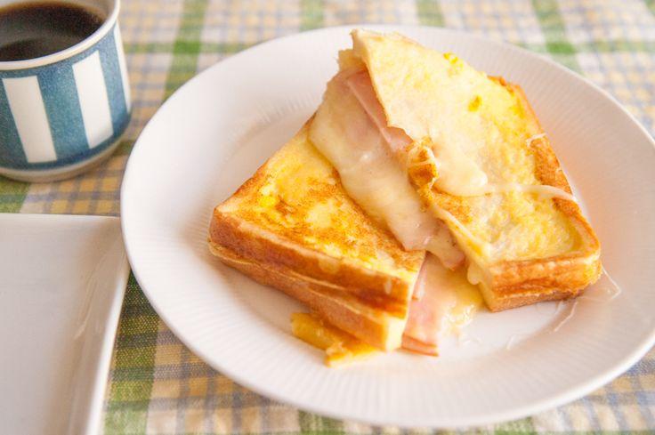 ハムとチーズのお手軽クロックムッシュ